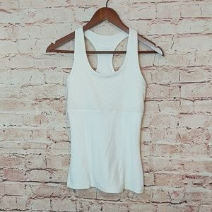 Fitted workout white tanktop